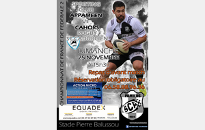 FEDERALE 2 : PAMIERS 1 Vs CAHORS 1