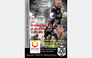 FEDERALE 2 : PAMIERS 1 Vs GAILLAC