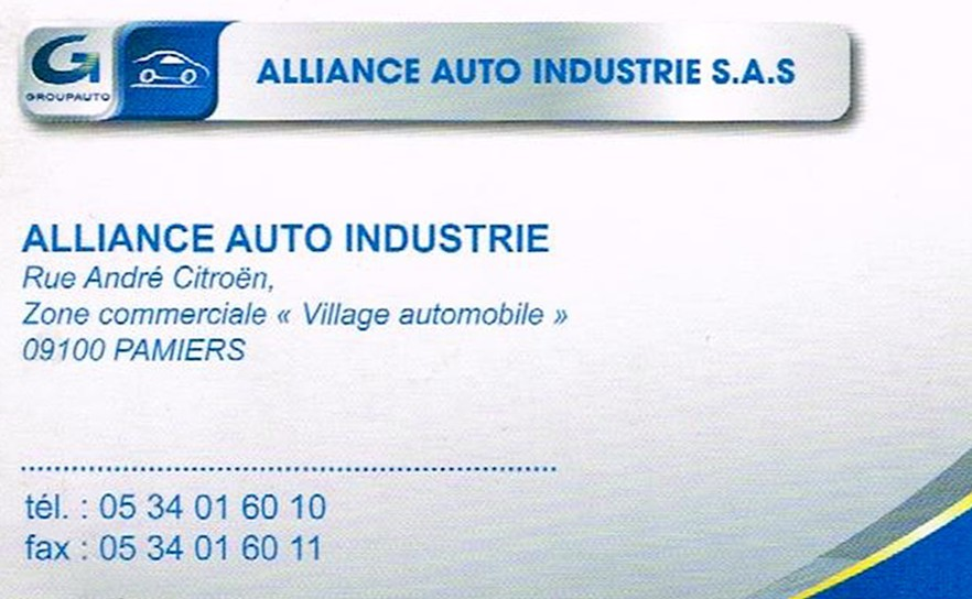 ALLIANCE AUTO INDUSTRIE